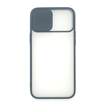 Slide Camera Lens Protection Shockproof TPU Phone Case for iPhone Color Matte Transparent