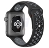 Silicone Strap Wristband For Nike Apple Watch 42MM 44MM Band - Black Grey