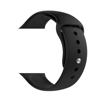 Silicone Sport WristBand Strap for Apple Watch 42mm & 44mm - Black