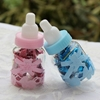 Transparent Milk Bottle Shape Candy Box Gift Birthday Party 30pcs Blue and Pink
