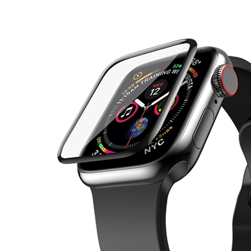 GREEN 3D FULL GLASS SCREEN PROTECTOR 44MM FOR APPLE WATCH 3/4/5 BLACK