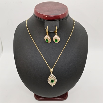 صورة Ladies Silver Half Set  23.11g with Emerald stone