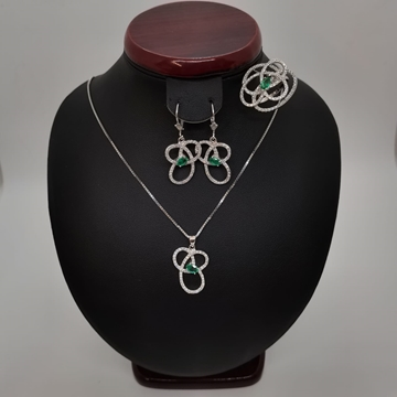 Picture of Ladies Silver Half Set 21.28g Chrome Tourmaline