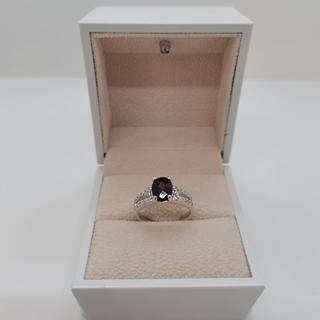 صورة 2.50g silver ring (925) with (African)red ruby stone