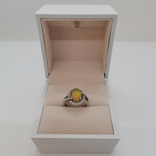 Picture of 2.71g silver ring (925) with Fire Opal stone