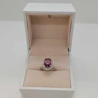 Picture of 2.62g silver ring (925) with amethyst stone