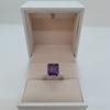 صورة 2.38g silver ring (925) with purple sapphire stone