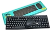 TJ-920 2.4G Keyboard and Mouse Suit Wireless Keyboard and Mouse - Black Arabic
