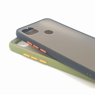 Redmi 9C Shockproof Back Cover Black and Green