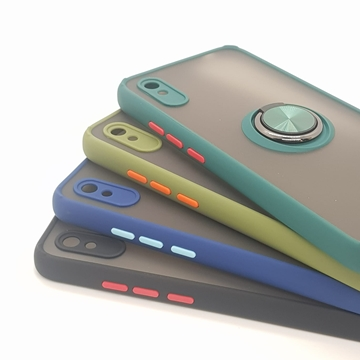 Redmi 9A Shockproof Back Cover Black and Blue and Green
