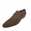 Enrico Marinelli Mens Formal Smart Casual Lace-up Fine Suede Brown Shoes Size 45