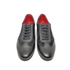 Enrico Marinelli Mens Formal Black Leather Lace-up with Short Fur Shoes