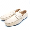 Enrico Marinelli Mens Leather Casual Loafer Cream Shoes