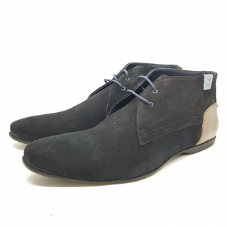 Enrico Marinelli Mens Lase-up Suede Ankle Boots Navy Blue Shoes