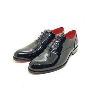 Enrico Marinelli Mens Lase-up Formal Wedding Shinny Black Shoes