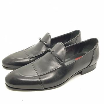 Enrico Marinelli Mens Formal Leather Slip On Knot Black Shoes Size 40