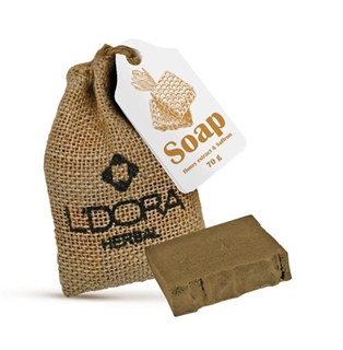 L'DORA Herbal Soap With Honey Extract And Saffron, 70 G