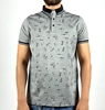 Men Slim Polo Shirt with Thin Cloth for Summer ( Gray and White Colors)
