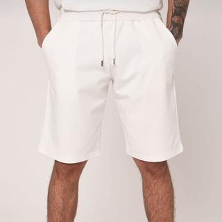 Cotton Short white plain color