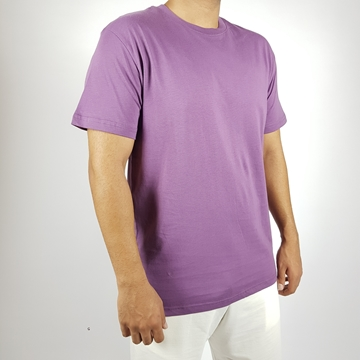 Regular T-shirt in White, Light Green and Purple colors