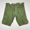 Cotton Lace Up Cargo Short for Men in White, Black and military Green Colors