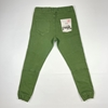 Military Green Cotton Lace Up Jogger Pants