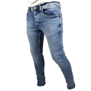 Men Faded Blue Skinny Jeans