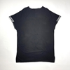 Short Sleeves Long T-Shirt Muscle Cut for Men in Black and White Colors
