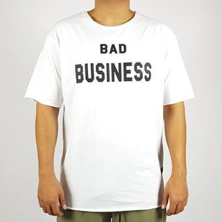 Short Sleeves Long T-Shirt Bad Business for Men in Black and White Colors