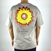 Men Oversize T-shirt with Men Picture in Flower Available in White and Gray Color