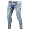 Men Faded Blue Ripped Jeans