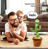 Wriggle Dancing Plush Cactus Toy with Funny Electronic Repeat Voice and Birthday song for Kids and Adults