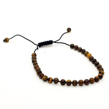 4mm Tiger's Eye Natural Stone Bracelets for Women and Men Round Beads