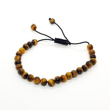 6mm Tiger's Eye Natural Stone Bracelets for Women and Men Round Beads - copy