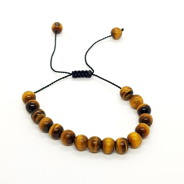 8mm Tiger's Eye Natural Stone Bracelets for Women and Men Round Beads