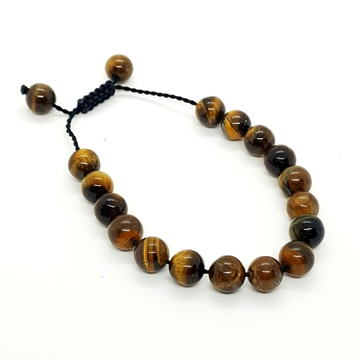 10mm Tiger's Eye Natural Stone Bracelets for Women and Men Round Beads