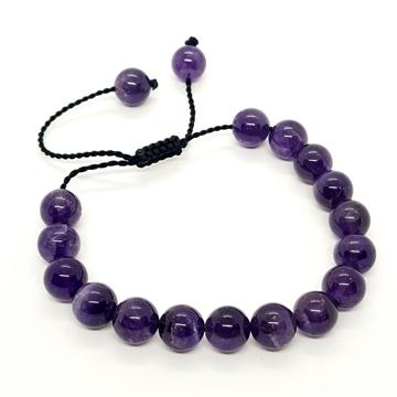 10mm Amethyst Natural Stone Bracelets for Women and Men Round Beads