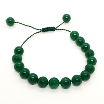 10mm Green Jade Natural Stone Bracelets for Women and Men Round Beads