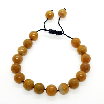 10mm Brown Onyx Natural Stone Bracelets for Women and Men Round Beads