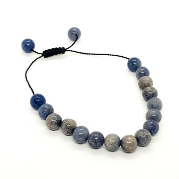 8mm Blue Onyx Natural Stone Bracelets for Women and Men Round Beads