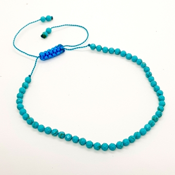 2mm turquoise Natural Stone Bracelets for Women and Men Round Beads