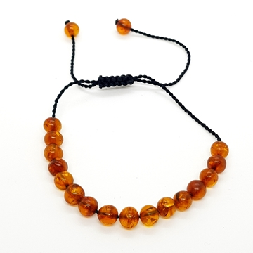 5mm Amber Bracelets for Women and Men Round Beads
