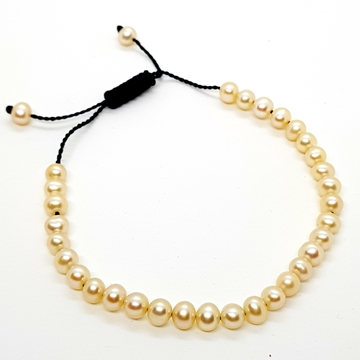 5mm Freshwater Pearl Bracelets for Women and Men Round Beads