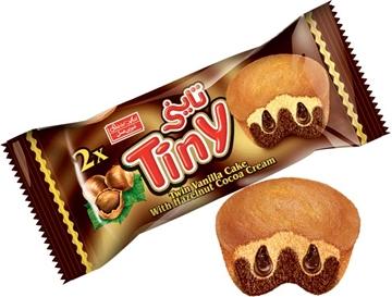 Tiny Cake Twin Chocolate Cream with Hazelnut Flavor 60g (Pack of 24)