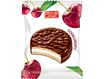 Compound Coated Biscuit with Cherry Marmalade 25 g (Pack of 24)