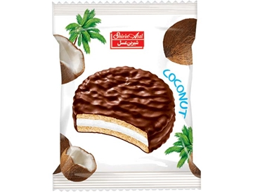 Compound Coated Biscuit with Coconut Marmalade 25 g (Pack of 24)