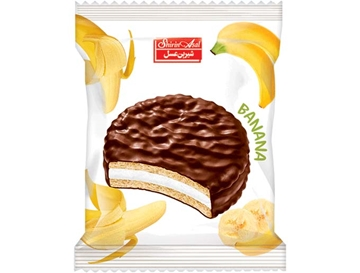 Compound Coated Biscuit with Banana Marmalade 25 g (Pack of 24)