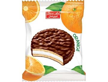 Compound Coated Biscuit with Orange Marmalade 25 g (Pack of 24)