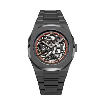 Sandblast Orange D1 Milano Watch